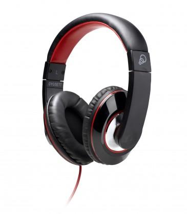 Sluchátka přes hlavu Cygnett Headphones Black and Red for iPod, iPad and MP3 players