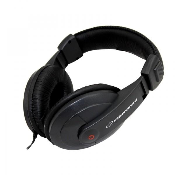 Sluchátka přes hlavu Esperanza EH120 REGGAE sluchátka, černá   2m