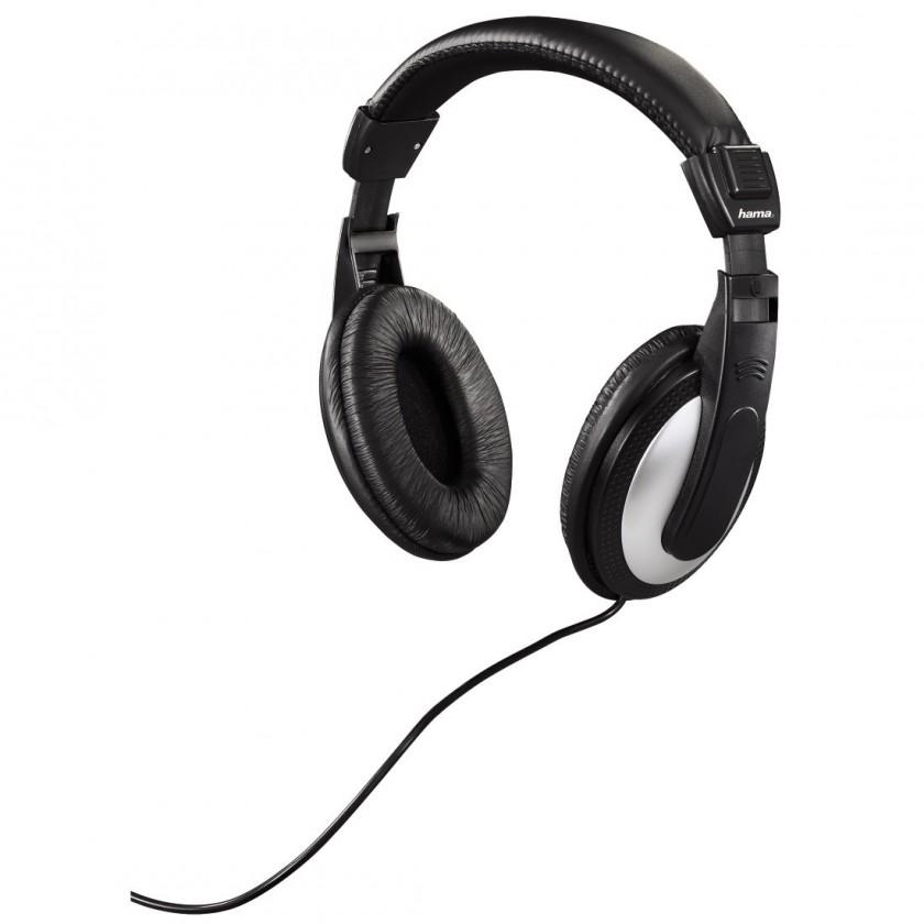 Sluchátka přes hlavu Hama sluchátka HK-5619 k TV, uzavřená, černá/stříbrná