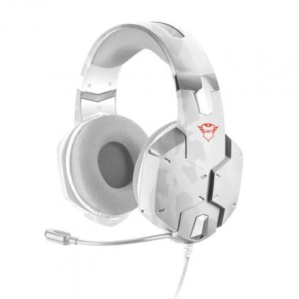 Sluchátka přes hlavu Herní headset Trust GXT322, bílá kamufláž