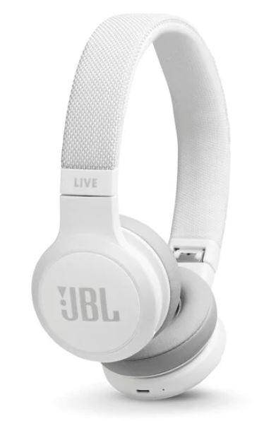 Sluchátka přes hlavu JBL LIVE 400BT, bílá