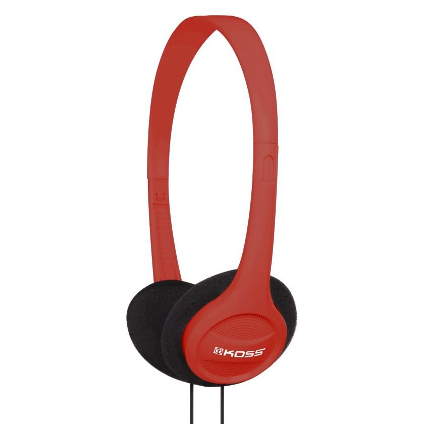 Sluchátka přes hlavu Koss KPH7 RED (dožívotní záruka)