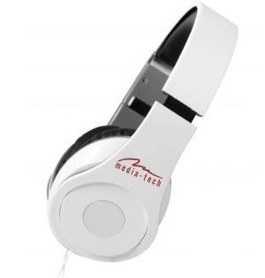 Sluchátka přes hlavu Media-Tech Magicsound NS-3 sluchátka s mikrofonem, bílá
