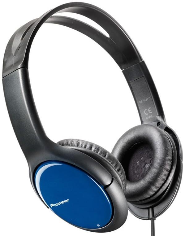 Sluchátka přes hlavu Pioneer SE-MJ711-L, modrá
