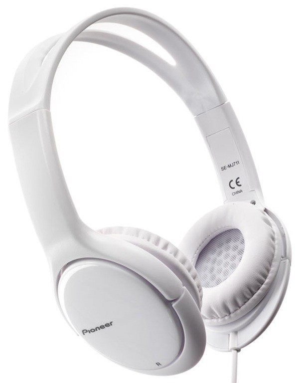 Sluchátka přes hlavu Pioneer SE-MJ711-W bílá