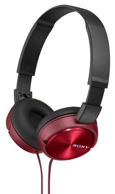 Sluchátka přes hlavu Sluchátka přes hlavu Sony MDR-ZX310R, červená