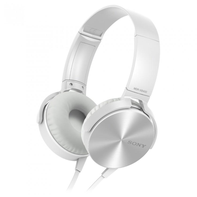 Sluchátka přes hlavu Sony MDR-XB450AP, bílá