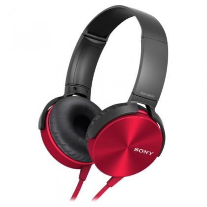 Sluchátka přes hlavu Sony MDR-XB450AP, červená