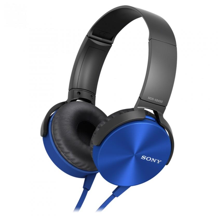 Sluchátka přes hlavu Sony MDR-XB450AP, modrá
