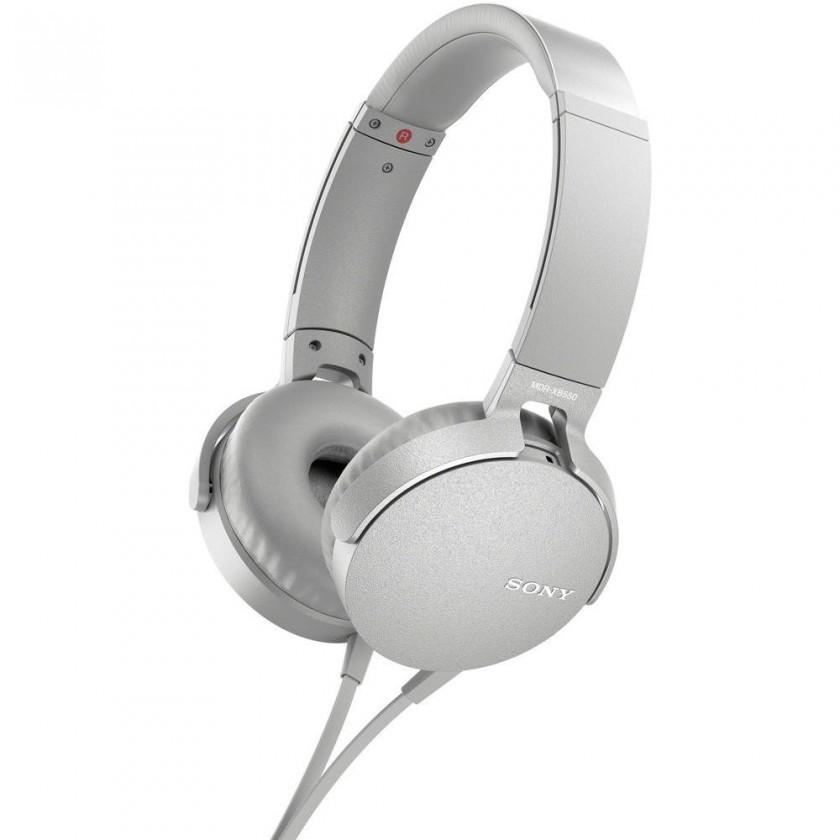 Sluchátka přes hlavu Sony MDR-XB550AP, bílá MDRXB550APW.CE7