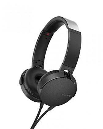 Sluchátka přes hlavu Sony MDR-XB550AP, černá MDRXB550APB.CE7