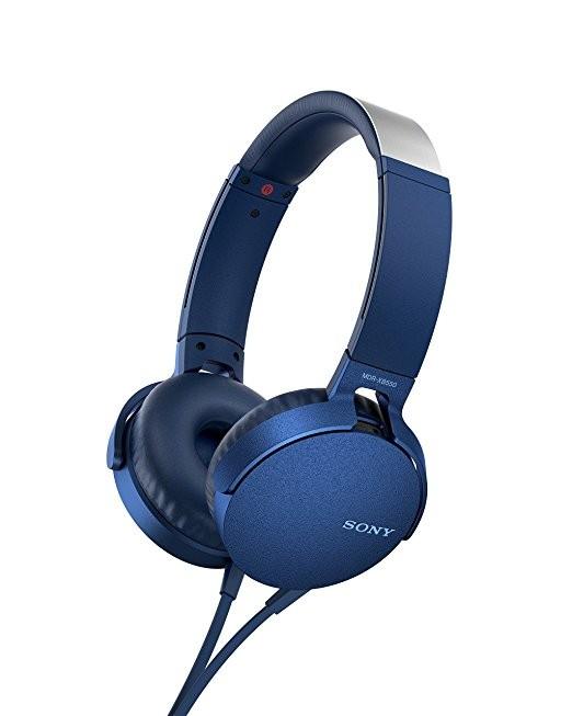 Sluchátka přes hlavu Sony MDR-XB550AP, modrá MDRXB550APL.CE7