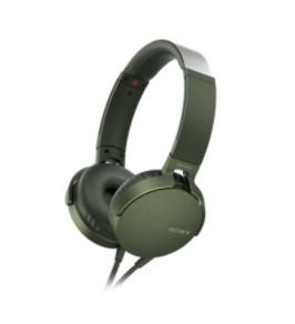 Sluchátka přes hlavu Sony MDR-XB550AP, zelená MDRXB550APG.CE7