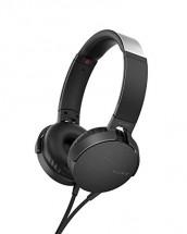 Sluchátka přes hlavu Sony MDR-XB550APB, černá