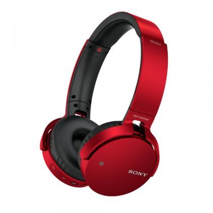 Sluchátka přes hlavu Sony MDR-XB650BT Red
