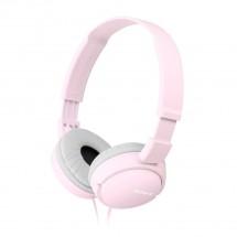 Sluchátka přes hlavu Sony MDR-ZX110APP, růžová