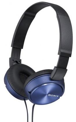 Sluchátka přes hlavu Sony MDR-ZX310, modrá