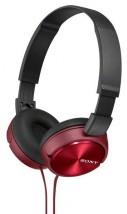 Sluchátka přes hlavu Sony MDR-ZX310R, červená