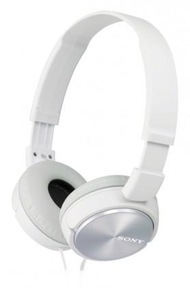 Sluchátka přes hlavu Sony MDR-ZX310W, bílá