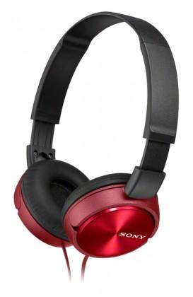 Sluchátka přes hlavu Sony Sluchátka MDRZX310AP červená