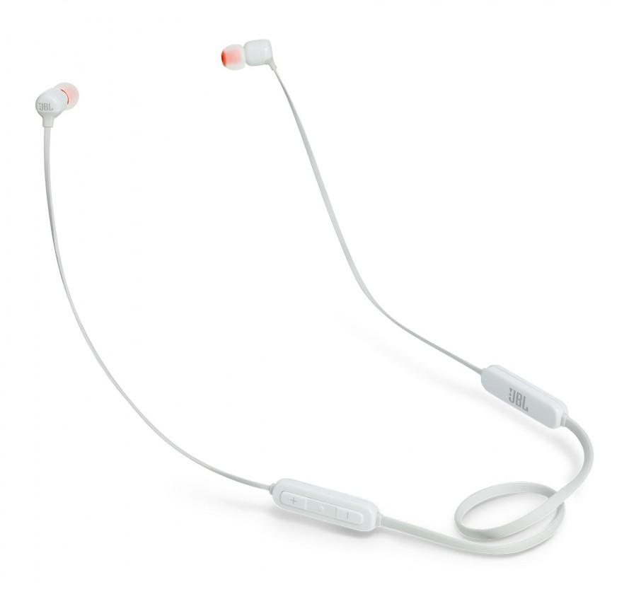 Sluchátka s mikrofonem Bezdrátová sluchátka JBL T110BT bílá