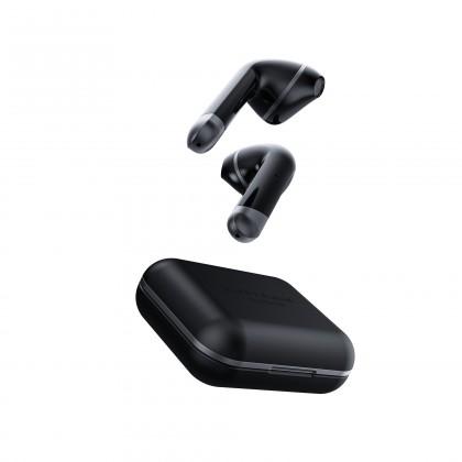 Sluchátka s mikrofonem Happy Plugs Air1 Black OBAL POŠKOZEN
