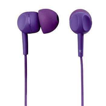Sluchátka Thomson EAR3005, silikonové špunty, fialová