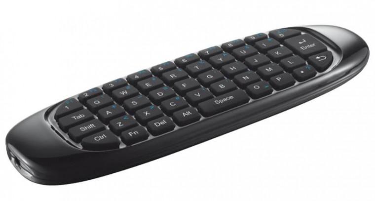 SMART klávesnice Trust Wireless Keyboard & Air Mouse pro TV, US, černá ROZBALENO