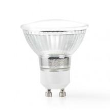 SMART LED žárovka Nedis WIFILC10CRGU10, GU10, barevná/teplá bílá