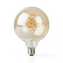 SMART LED žárovka Nedis WIFILT10GDG125, E27, kulatá, bílá
