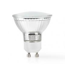 SMART LED žárovka Nedis WIFILW11CRGU10, GU10, teplá bílá