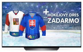 """Smart televize LG OLED55B8PLA (2018) / 55"""" (139 cm) + Hokejový dres v hodnotě 990,- ZDARMA!"""