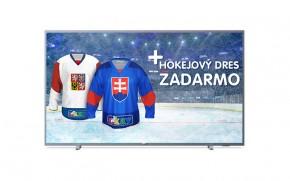 """Smart televize Philips 55PUS6523 (2018) / 55"""" (139 cm) + Hokejový dres v hodnotě 990,- ZDARMA!"""