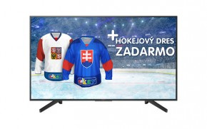 """Smart televize Sony Bravia KD55XF7096 (2018) / 55"""" (139 cm) + Hokejový dres v hodnotě 990,- ZDARMA!"""