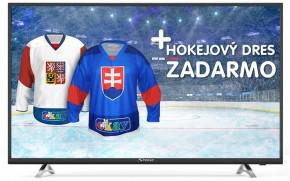 """Smart televize Strong SRT43UA6203 (2018) / 43"""" (108 cm) + Hokejový dres v hodnotě 990,- ZDARMA!"""