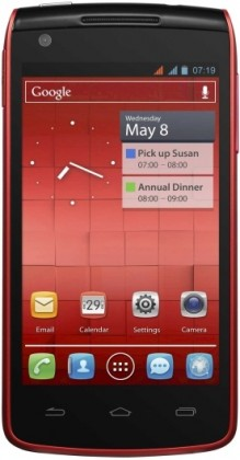 Smartphone ALCATEL ONETOUCH 992D Red