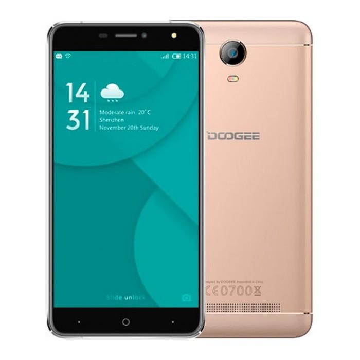 Smartphone DOOGEE X7, zlatá
