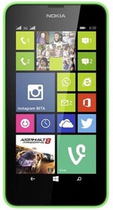 Smartphone Nokia Lumia 630 (Dual SIM) Bright Green + Black zadní kryt