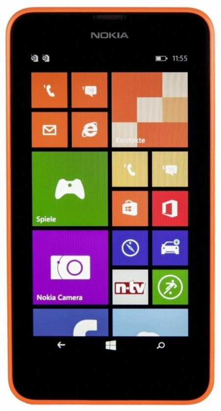Smartphone Nokia Lumia 630 (Dual SIM) Bright Orange + Black zadný kryt