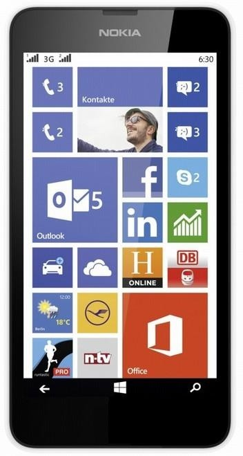 Smartphone Nokia Lumia 630 (Dual SIM) White + Black zadný kryt