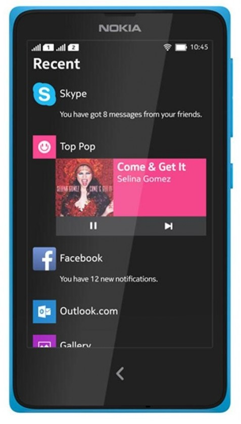 Smartphone Nokia X Dual SIM Cyan