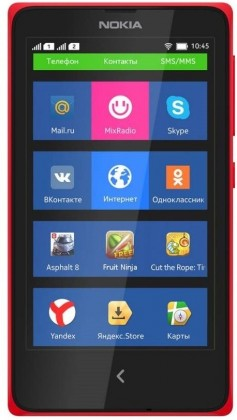 Smartphone Nokia X Dual SIM Red