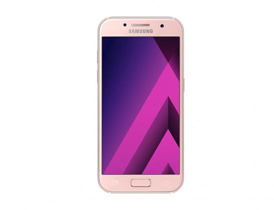 Smartphone Samsung Galaxy A3 2017, růžová
