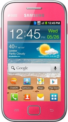Smartphone Samsung Galaxy Ace Duos (S6802), růžový