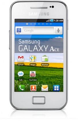 Smartphone Samsung Galaxy Ace (S5830i), bílý