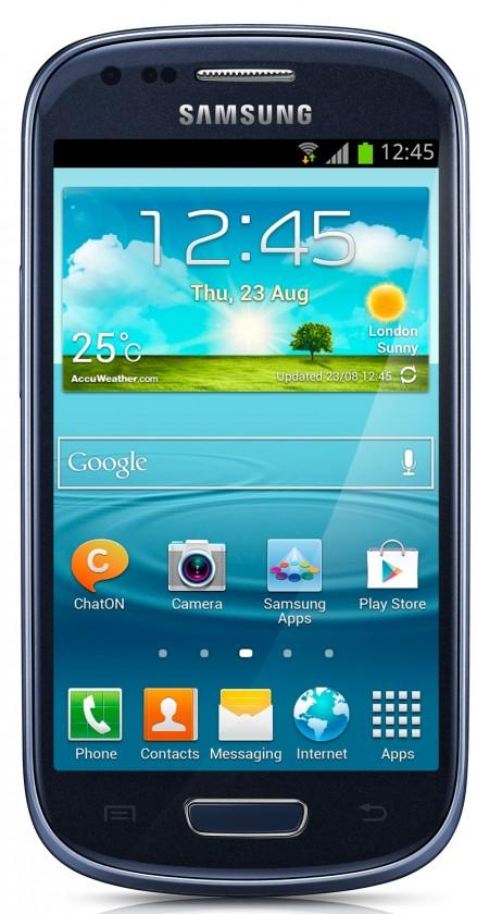 Smartphone Samsung Galaxy S III mini VE (i8200), modrý
