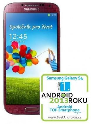 Smartphone Samsung Galaxy S4 (i9505), červený