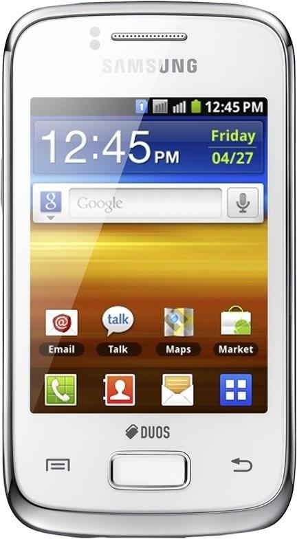 Smartphone Samsung Galaxy Y Duos Pure (S6102), bílý