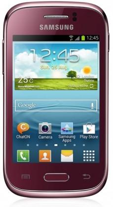 Smartphone Samsung Galaxy Young (S6310), červený