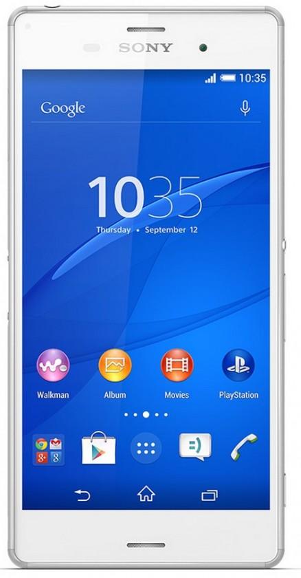 Smartphone Sony Xperia Z3 Dual SIM D6633 bílá